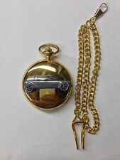 Sabb 96 Rally 2 Stroke Monte Carlo ref235 Pewter Effect gold case pocket watch