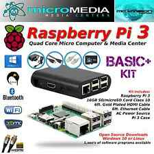 Raspberry Pi 3 Basic+ Kit-Quad Core Mini Computer Bluetooth Wifi