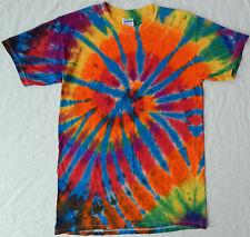 Rainbow Tie Dye Psychedelic Short Sleeve T Shirt - Mens Small Cotton Tee Hippie