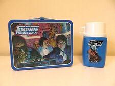 Vintage 1980 STAR WARS ESB Metal Lunch Box w/ Yoda Thermos * Nice * Clean *