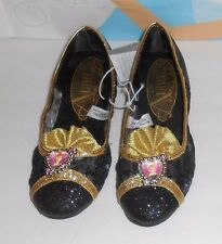 Disney Store Frozen Princess Anna Embellished Shoes Slippers Black 2/3 NWT