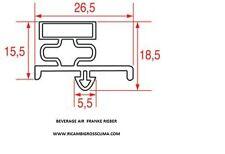 GUARNIZIONE FRIGORIFERO per BEVERAGE AIR FRANKE RIEBER costruzione su misura