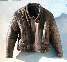 Vintage motorcycle leather jacket - blouson moto vintage, cuir