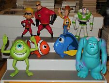 2005 Mcdonalds Happy Meal Toys Disney Pixar Pals Set of 8 Nemo The Incredibles