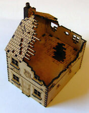 15mm WW2 1 x ruiné en terrasses des maisons (style 1), fow flames of war