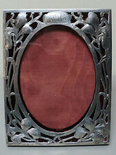 WONDERFUL ART NOUVEAU PERIOD STERLING SILVER PICTURE FRAME, IRIS DECORATION
