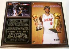 LeBron James #6 2013 NBA Champion Miami Heat 4-Time NBA MVP Photo Plaque King J