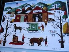 "300 Piece Joseph Holodook:Art Puzzle ""Maple Moon Farm"" New 18""x 24"" Large Pieces"