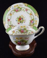 Vintage Shelley China England Dubarry Green Tea Cup and Saucer