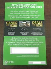 Xbox Live 1 Month Gold Membership Subscription Card For Xbox One Xbox 360 -EMAIL