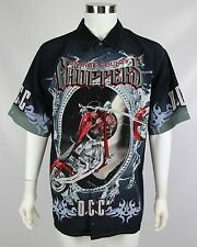 Orange County Choppers OCC Mens XL Motorcycles Short Sleeve Button Front Shirt