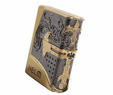 Zippo Helm Gold Lighter Made in USA GENUINE ORIGINAL Packing emblem