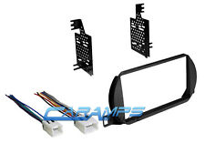 NEW DOUBLE DIN CAR STEREO RADIO DASH INSTALLATION TRIM KIT WITH WIRING HARNESS