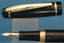 Baoer No. 502 Black Lacquered Medium Fountain Pen with Gold Trim
