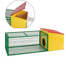 Flyline Rabbit Guinea Pig House Cage Hutch Run Pen Small