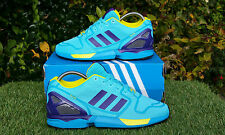 BNWB Genuine Adidas Originals ZX Flux Techfit® OG Bright Cyan Trainers UK Size 5