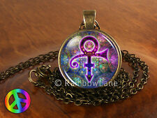 Prince RIP Memorial Symbol Love Logo Purple Rain Necklace Pendant Jewelry Gift