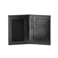 DV Portafoglio uomo Slim Sottile in vera pelle Nappa NERO con tasche porta carte