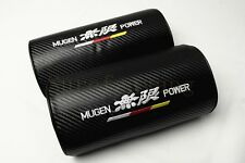 2Pcs Mugen Power Carbon Fiber & Embroidery Car Seat Neck Cushion Pillow Headrest