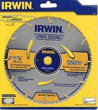 "NEW IRWIN 7-1/4"" 120T CIRCULAR SAW BLADE 11830 FOR VINYL SIDING PVC PIPE 5/8"""