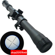 4x20 Optic Sniper Scope Reticle Sight Scopes 20mm Rail Mount For Rifle Hunting