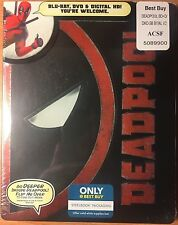 Deadpool (Blu-ray + DVD + HD Digital) Steelbook NEW
