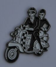 Two Tone Ska Couple on Scooter Quality Enamel  Pin Badge