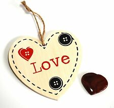 REIKI ENERGY CHARGED RED JASPER CRYSTAL HEART & HANGING HEART WALL DECORATION