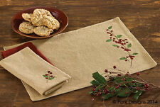 Burlap & Berries Christmas Placemat