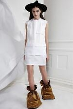 ELLERY White & Cream Cotton Shirt Dress 6