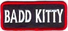 BAD KITTY Funny Embroidered Motorcycle Ladies MC Chick Biker Vest Patch PAT-0199