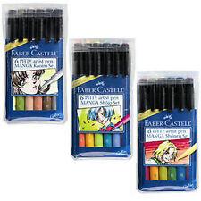 Faber Castell Pitt Artist Pen - 3 x 6 Pen Wallets MANGA