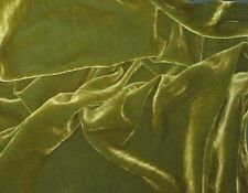 Silk VELVET Fabric YELLOW GREEN by the yard 45""