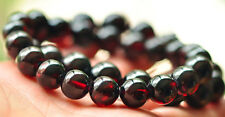 12mm Natural Wine Red Garnet Crystal Round Beads Bracelet Better for Health