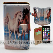 Wallet Phone Case Flip Cover for iPhone 6 Plus / 6S Plus Lover Horses by the Sea
