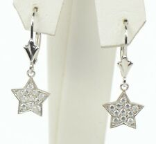 Star CZ Dangle Sterling Silver Earrings