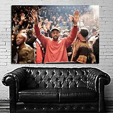 Poster Mural Kanye West Rap Madison Square Garden 35x52 inch (90x132 cm) Canvas