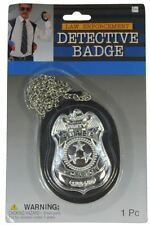 DELUXE DETECTIVE BADGE ON CHAIN HALLOWEEN COSTUME ACCESSORY