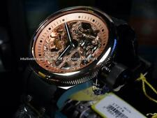 New Invicta Mens Rosegold Russian Diver Mechanical Skeleton Strap Watch