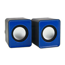 3.5mm USB 2.0 Power Mini Speaker For iPhone Computer Desktop Laptop Black BLue