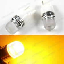 2 x High Power Yellow LED Backup Reverse Light Bulbs 7440