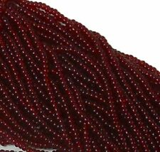 Transparent Garnet Czech 11/0 Glass Seed Beads 1 (6 String Hank) Preciosa