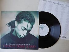 Terence Trent D'arby Introducing The Hardline According To Vinyl LP Lyric Inner
