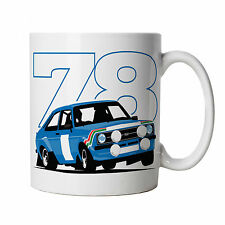 Escort Mk2 RS 1800 Rally Car Mug - Gift for Him Dad, Fathers Day Birthday
