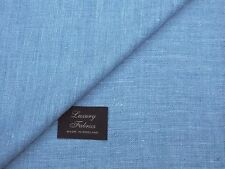 SILK/LINEN, MIXTURE LIGHT BLUE SHADE JACKETING FABRIC -MADE IN ENGLAND 2.0METRES