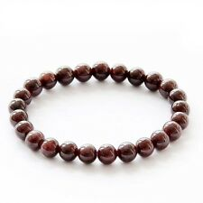 7mm Garnet Gemstone Tibet Buddhist Prayer Beads Mala Bracelet
