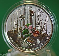 2016 Canada $25 for $25  - Woodland Elf silver coin - in colour