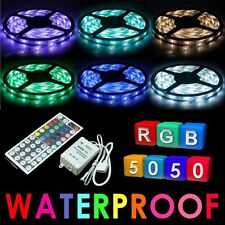 5050 RGB 5M 300 LED SMD 12V LED Strip Light Waterproof + IR Remote Controller
