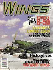 Wings Dec99 Boeing B-50 Germany Legion Condor Spanish Civil War Luftwaffe Fokker