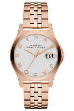 Marc by Marc Jacobs 'The Slim' White Dial Rose Gold-tone Ladies Watch MBM3392